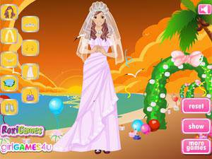 海滩日落婚纱