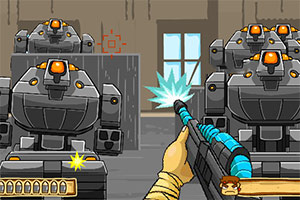 兰博突击队大战机器人