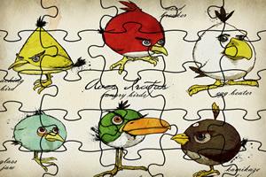 憤怒的小鳥表情拼圖