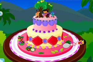 制作朵拉蛋糕