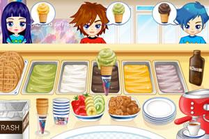 阿SUE在冰淇淋店打工