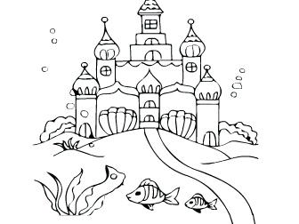 城堡简笔画可爱