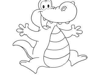 可爱鳄鱼简笔画