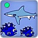 鲨鱼吃小鱼