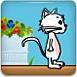 小白猫吃奶酪