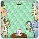 老夫妻吃茶点