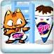 小猫吃冰激凌