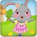 复活节装扮大兔子和彩蛋