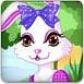 复活节打扮兔子