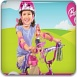 我和芭比騎自行車
