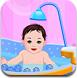 给小宝宝洗澡
