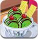 跟莎拉学做绿茶冰淇淋