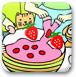 給草莓蛋糕填顏色