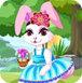 装扮复活节兔子