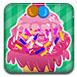 美味的粉色冰淇淋