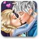 艾尔莎和恋人偷偷接吻