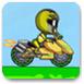恐龍戰隊山坡上的摩托車