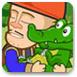 光头强照顾小鳄鱼