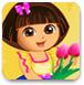 喜爱花朵的小朵拉