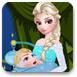艾爾莎媽媽照顧小嬰兒
