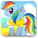 打扮漂亮的彩虹小馬
