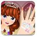 公主漂亮的指甲