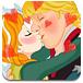 安娜公主偷偷接吻