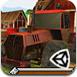 3D拖拉机农场停靠