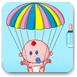 宝宝降落伞喝奶