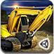 3D重型挖掘機停靠