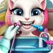 安杰拉猫看牙医