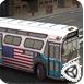 3d美国巴士停车