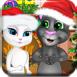 汤姆和安吉拉圣诞树装扮